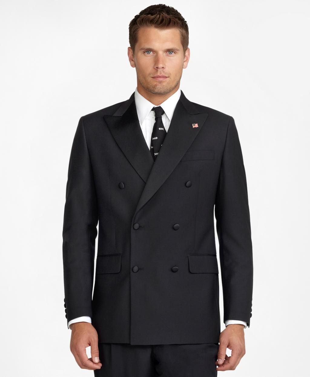 Brooks brothers Double-breasted Tuxedo Jacket in Black for Men | Lyst