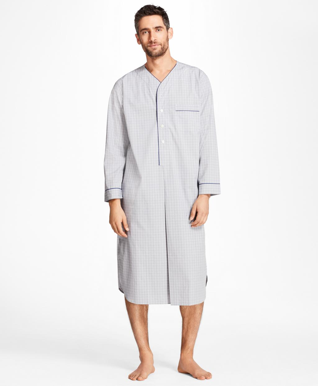Lyst - Brooks Brothers Plaid Nightshirt in Gray for Men 61898d664