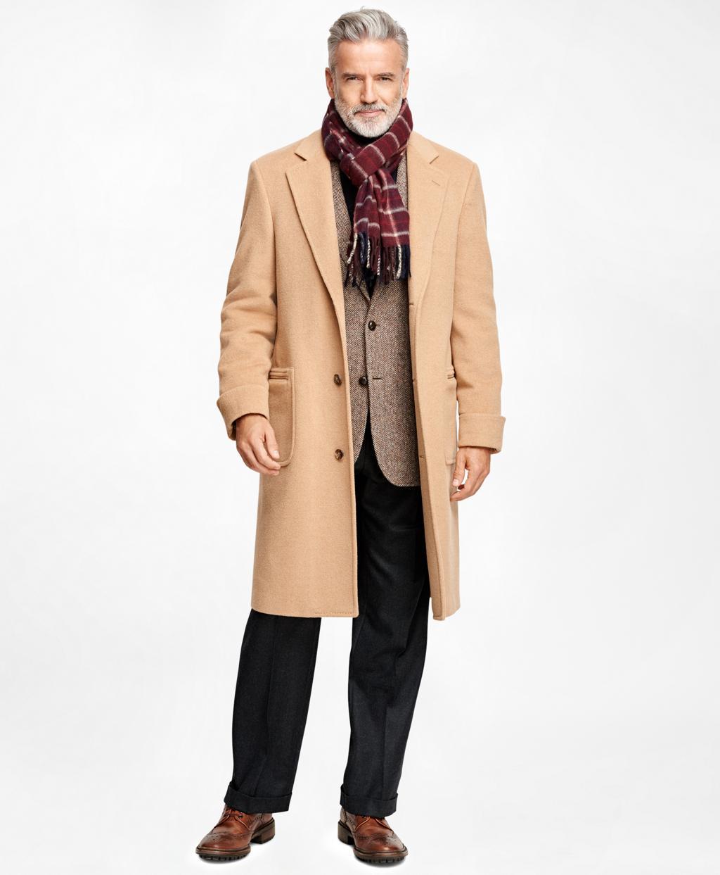 66c1780eabaa8 Brooks Brothers. Men s Natural Golden Fleece Single-breasted Polo Coat