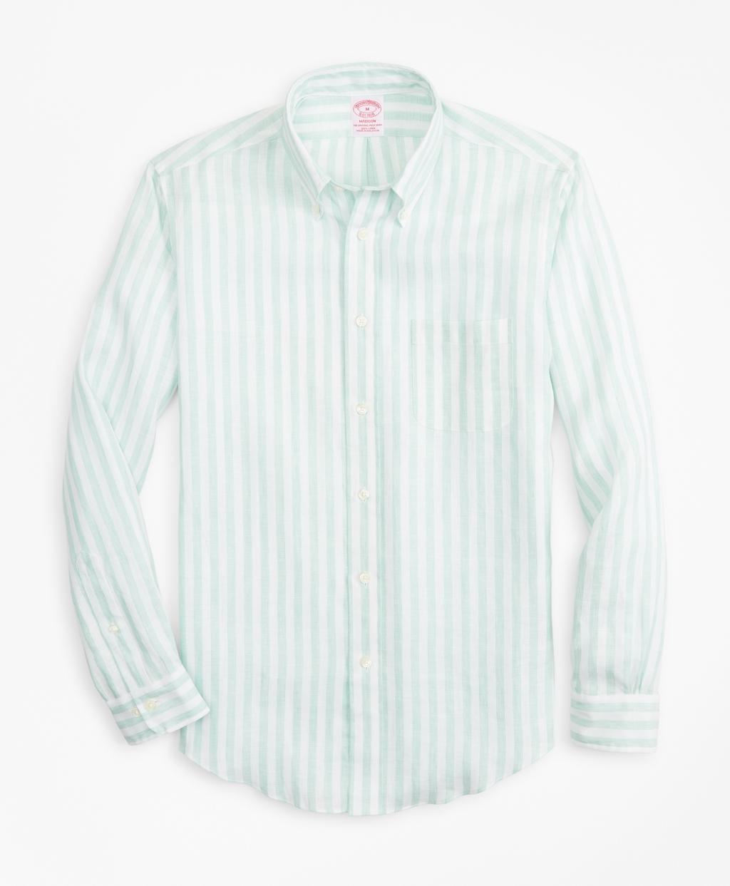 e4319ad69 Lyst - Brooks Brothers Madison Fit Stripe Irish Linen Sport Shirt in ...