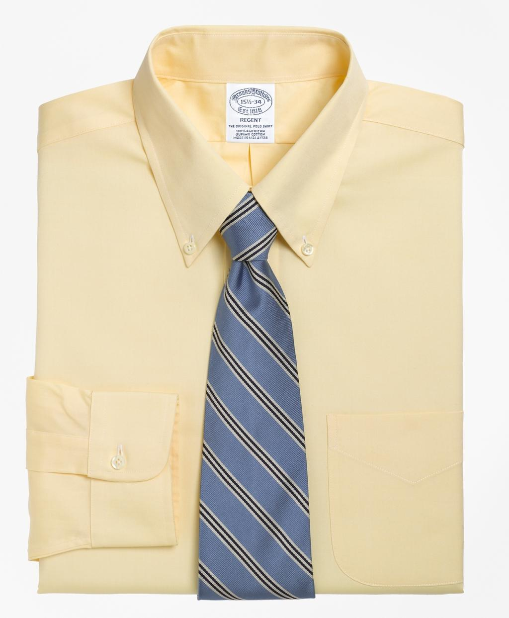 Lyst Brooks Brothers Extra Slim Fit Slim Fit Dress Shirt In Yellow