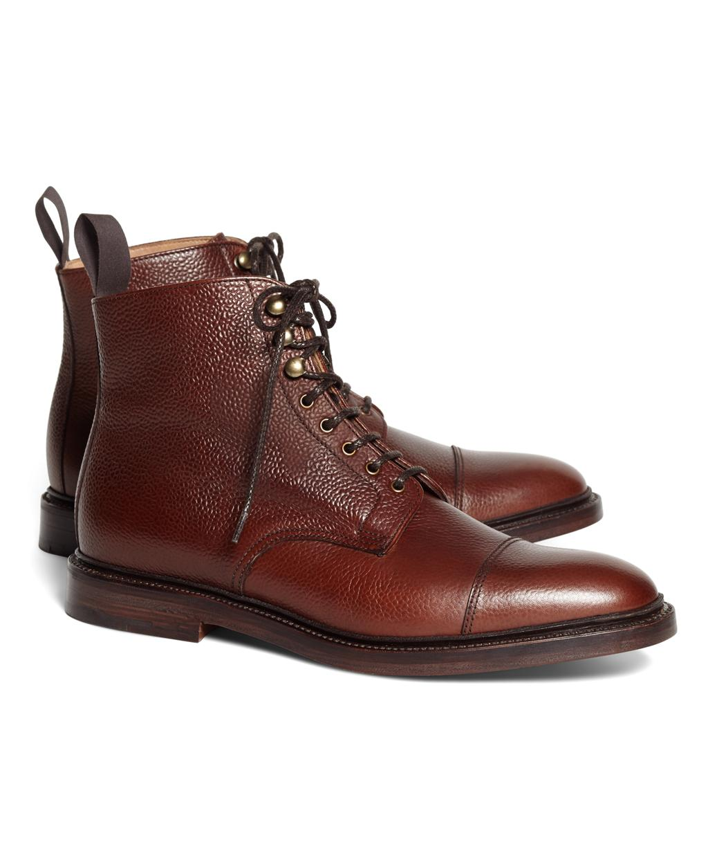 e1d429ebe83 Brooks Brothers Peal   Co Captoe Boots in Brown for Men - Lyst