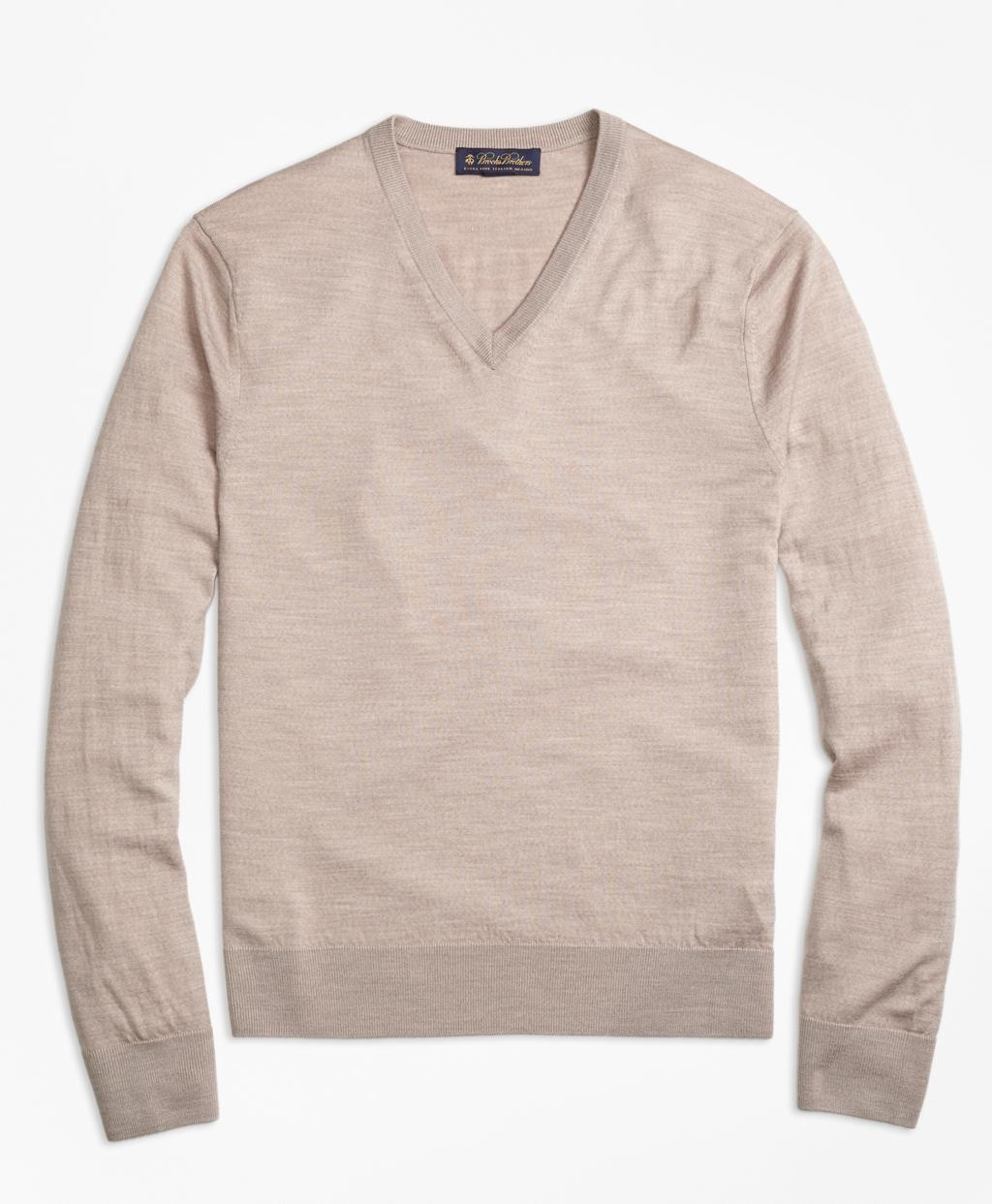 Brooks brothers lightweight merino wool v neck sweater for for Merino wool shirts for travel