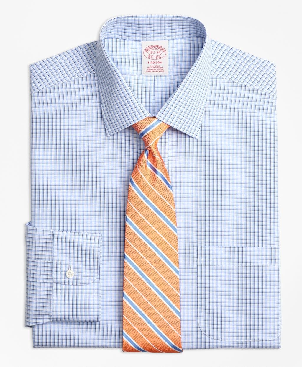 Brooks brothers non iron madison fit tonal sidewheeler for Brooks brothers dress shirt fit
