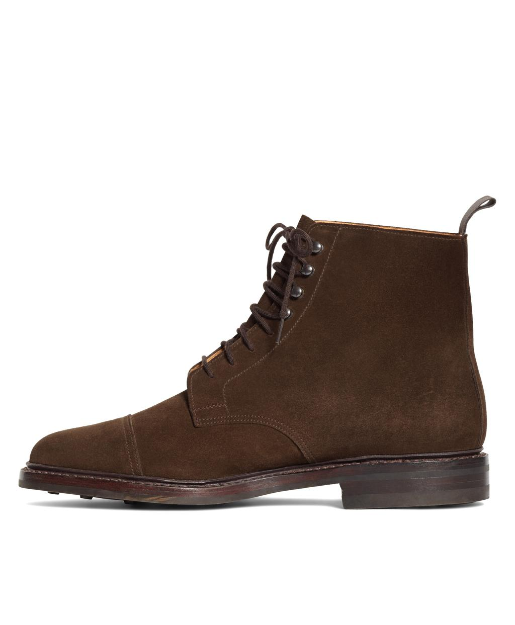 879cefe3e3e Lyst - Brooks Brothers Peal   Co. Derby Boots in Brown for Men