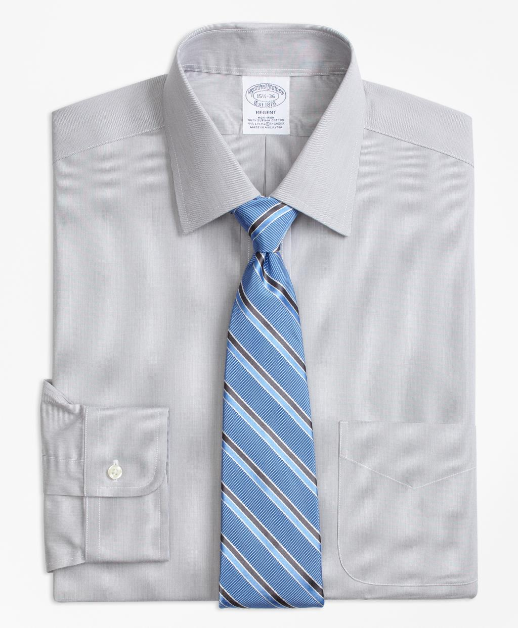 Brooks brothers stretch regent fitted dress shirt non for How to stretch a dress shirt