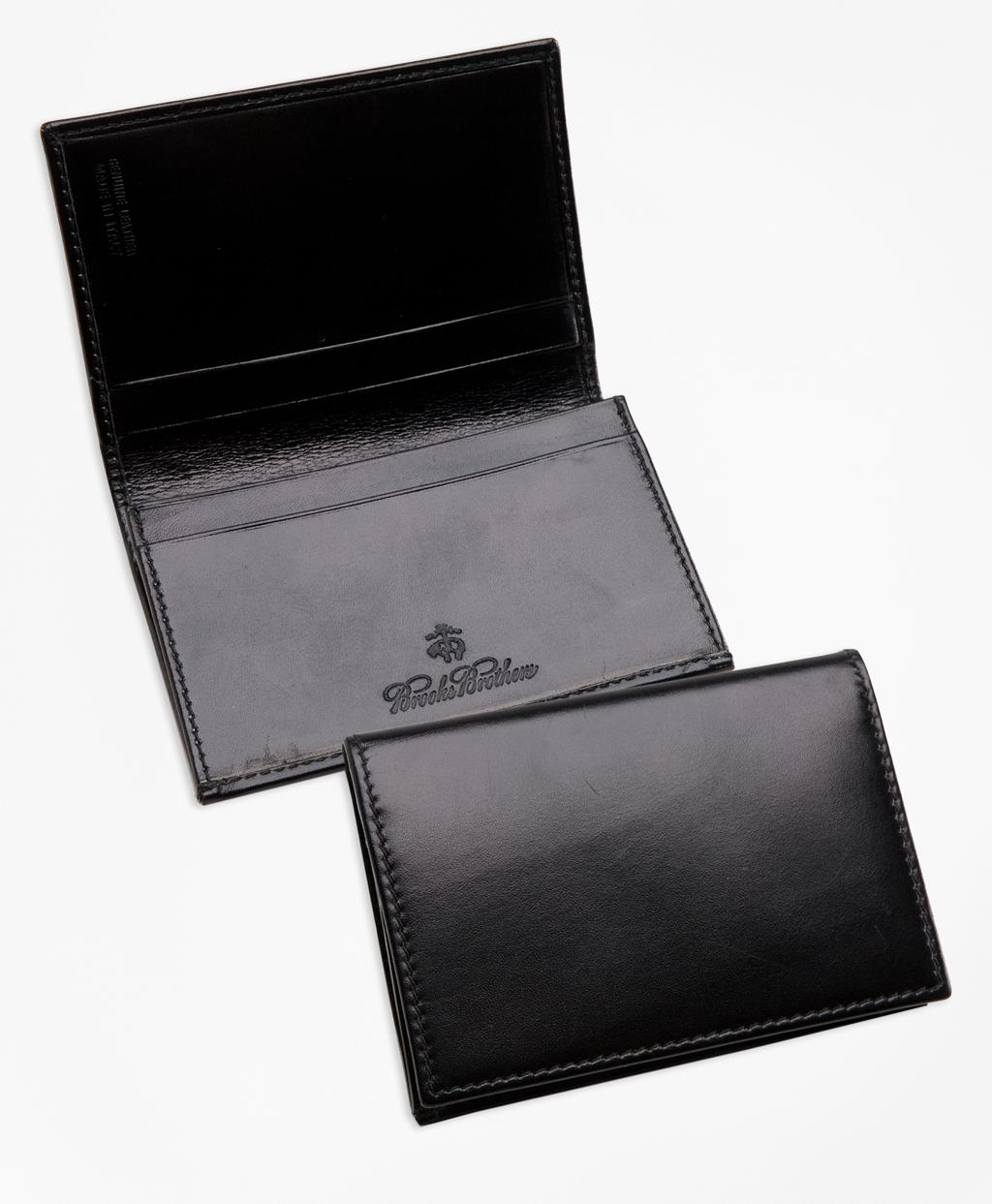 Lyst - Brooks Brothers French Calfskin Business Card Case in Black ...