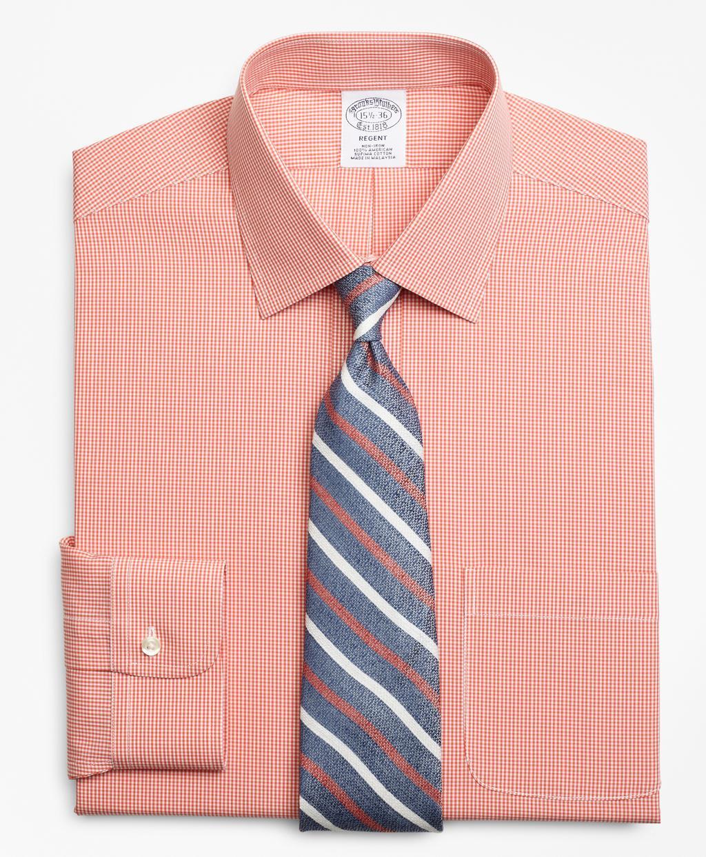 Mens Coral Gingham Dress Shirt Rockwall Auction