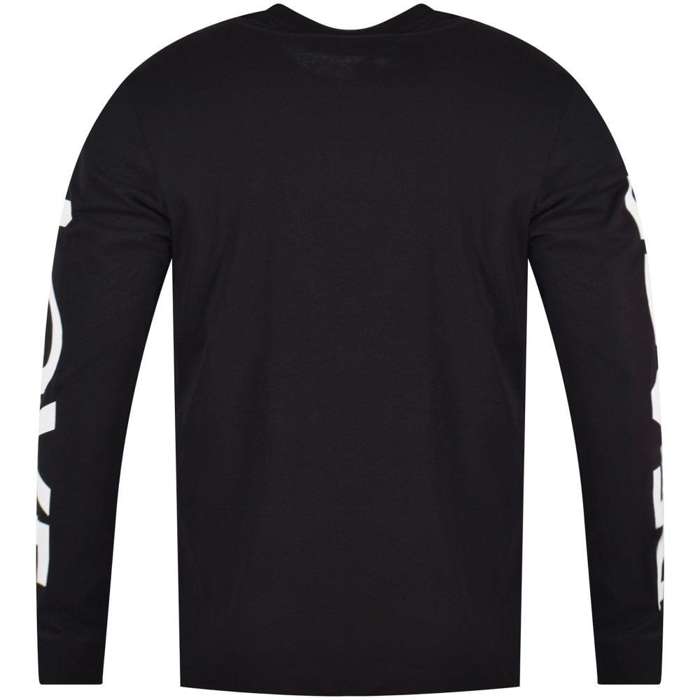 cc27ff5725c Love Moschino Black Love Peace Long Sleeve T-shirt in Black for Men ...