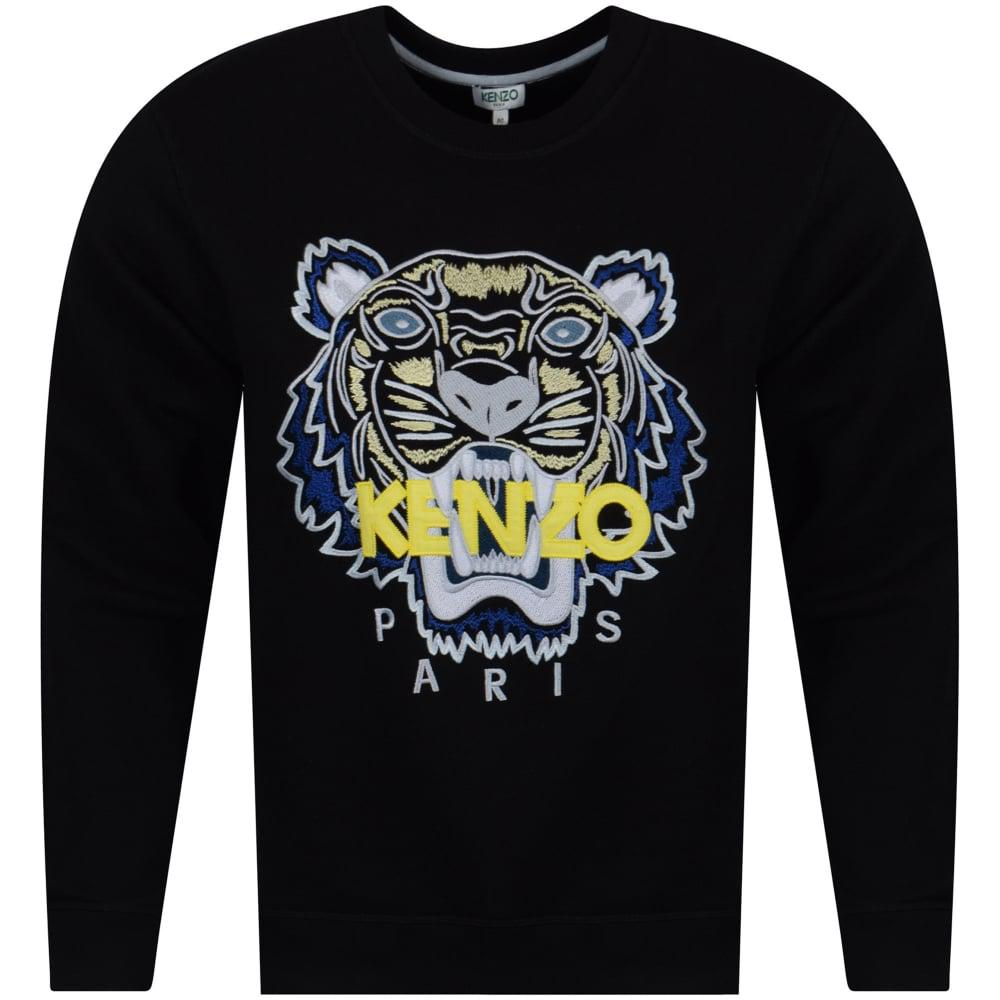 4193e2b75 KENZO Black/yellow/blue Tiger Logo Sweatshirt in Black for Men - Lyst