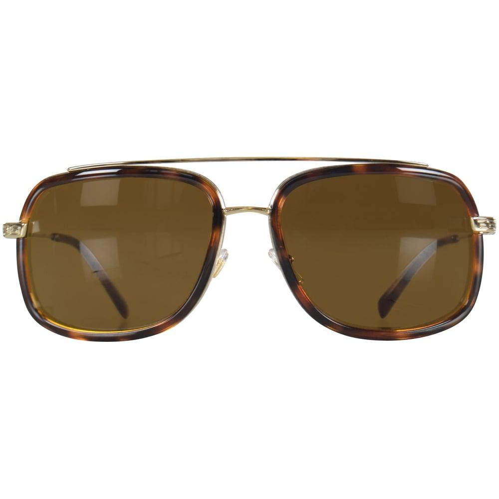 2ae03bea8d Versace - Multicolor Accessories Havana gold Frame Detail Sunglasses for  Men - Lyst. View fullscreen