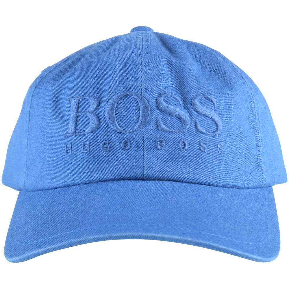 BOSS Casual Bright Blue Logo Cap in Blue for Men - Lyst e316ab876cb2
