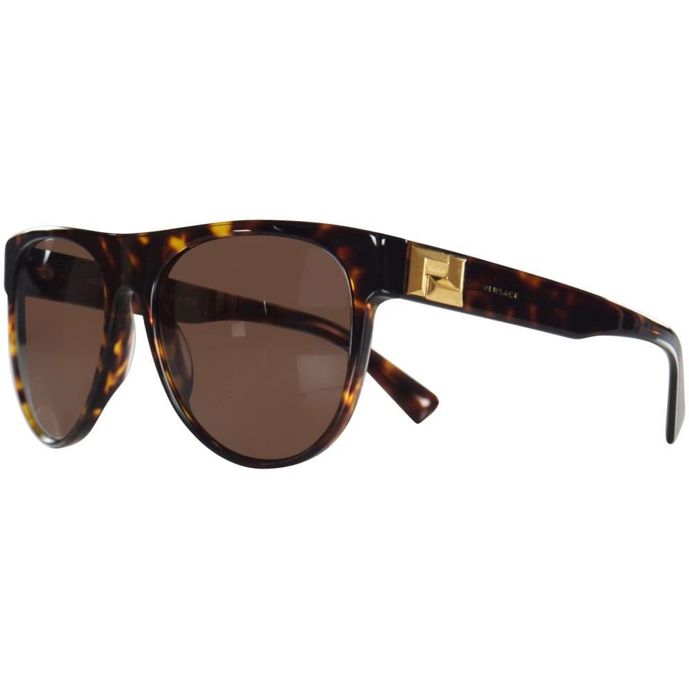 5c080f1cc7 Lyst - Versace Accessories Havana gold Detail Wayfarer Sunglasses in ...