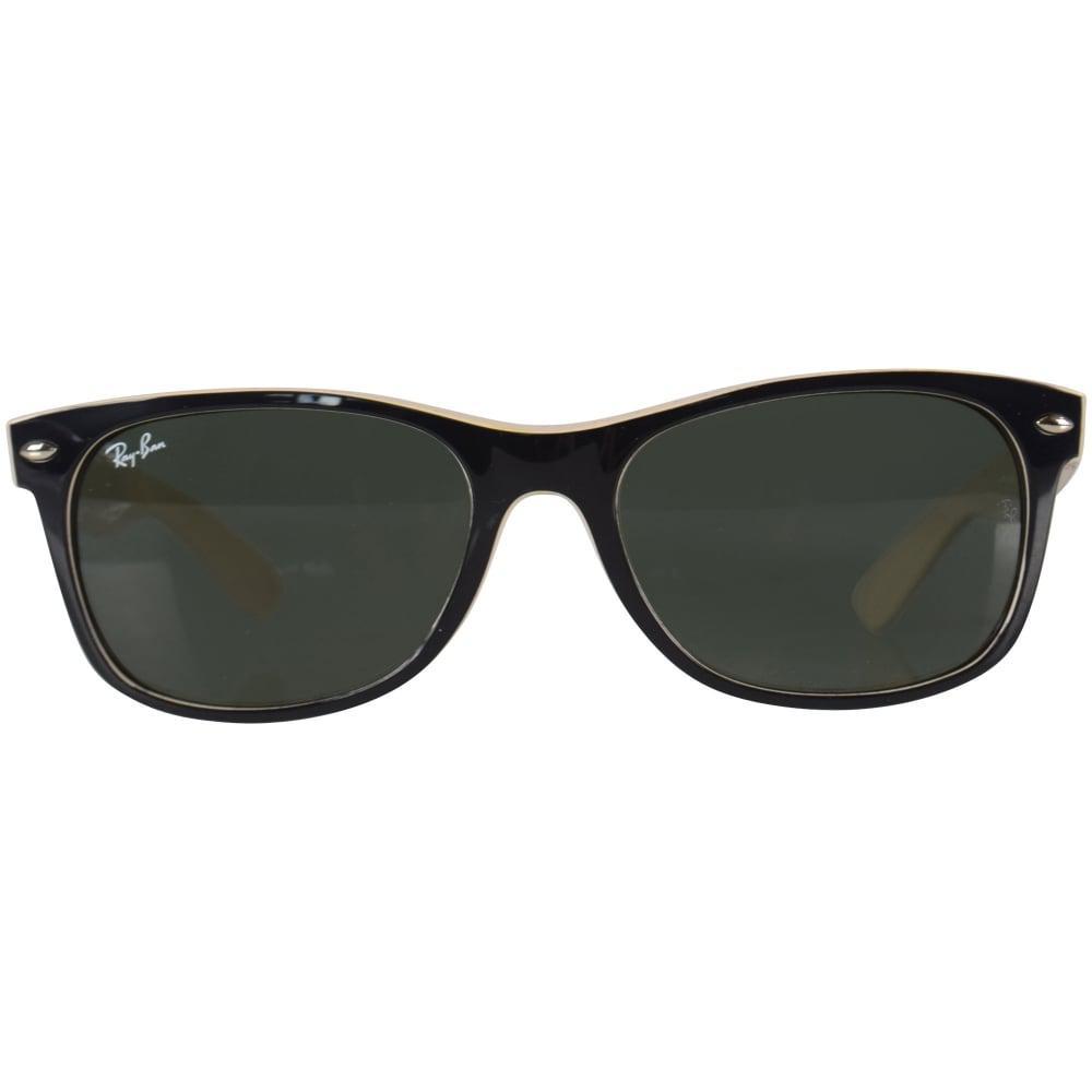 3c56c51cb8 ... Ray-ban Black cream Wayfarer Sunglasses for Men - Lyst. View fullscreen