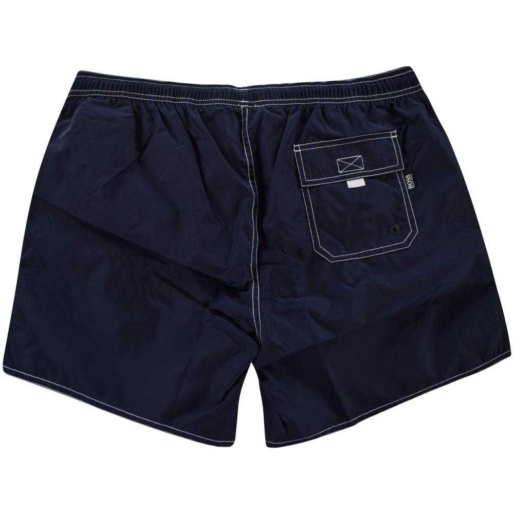 1bf27fdf6b Lyst - BOSS Navy 'lobster' Logo Swim Shorts in Blue for Men