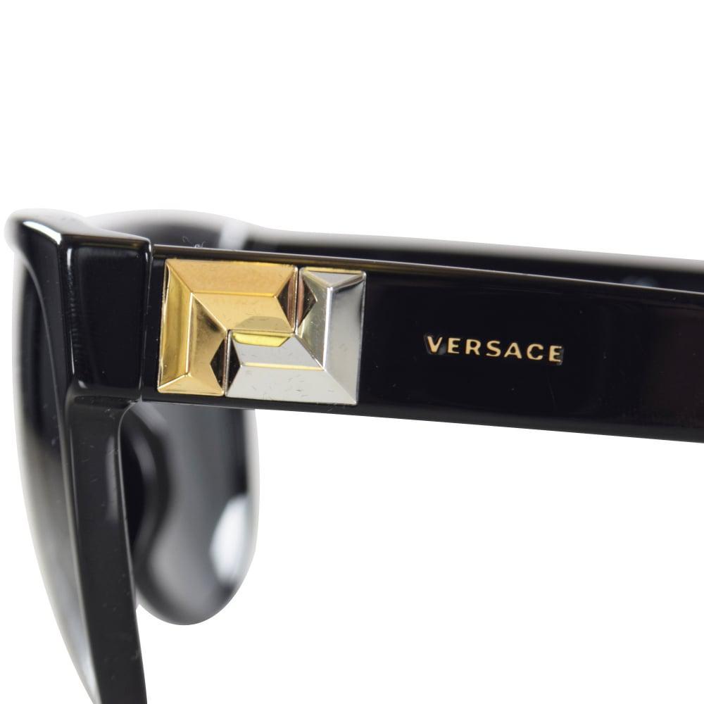212547733945 Lyst - Versace Accessories Black gold Detail Wayfarer Sunglasses in ...