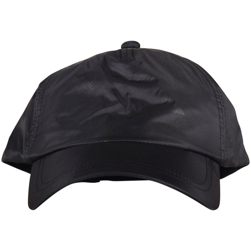 84bec176100 Emporio Armani Black Multi Eagle Nylon Cap in Black for Men - Lyst