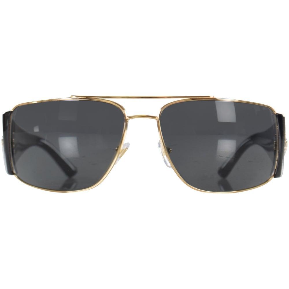 da8ed3f12d Versace Accessories Black gold Retro Medusa Frame Sunglasses in ...