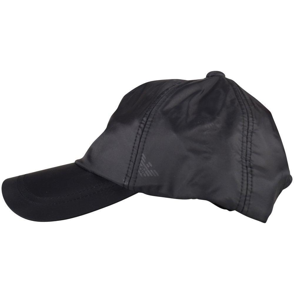 977c803e908 Emporio Armani - Black Multi Eagle Nylon Cap for Men - Lyst. View fullscreen