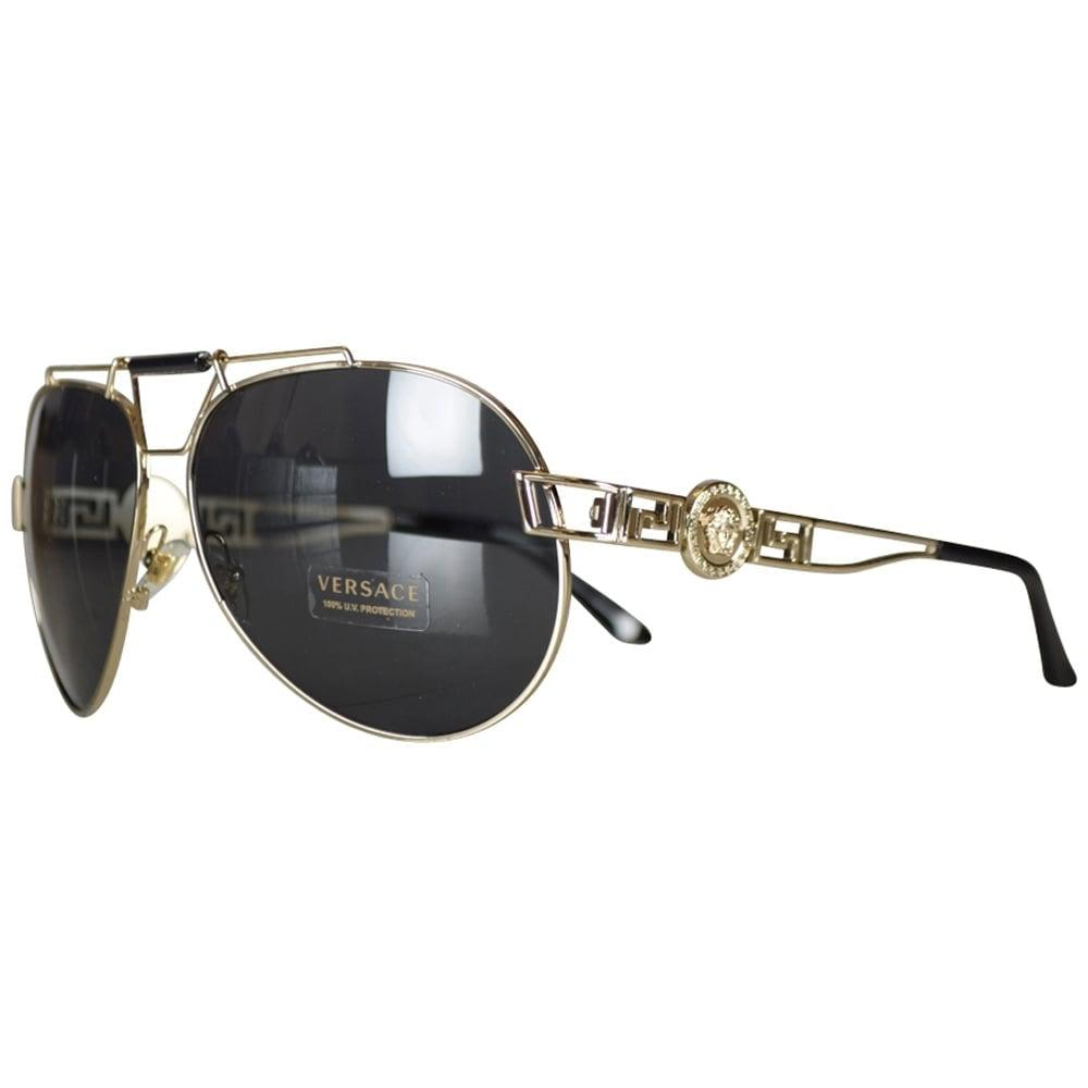 87609d4c659 Versace Accessories Gold Medusa Aviator Sunglasses for Men - Lyst