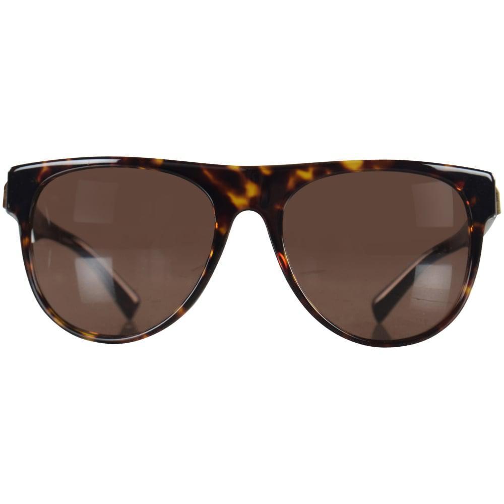 bbf65c377b Versace - Brown Accessories Havana gold Detail Wayfarer Sunglasses for Men  - Lyst. View fullscreen