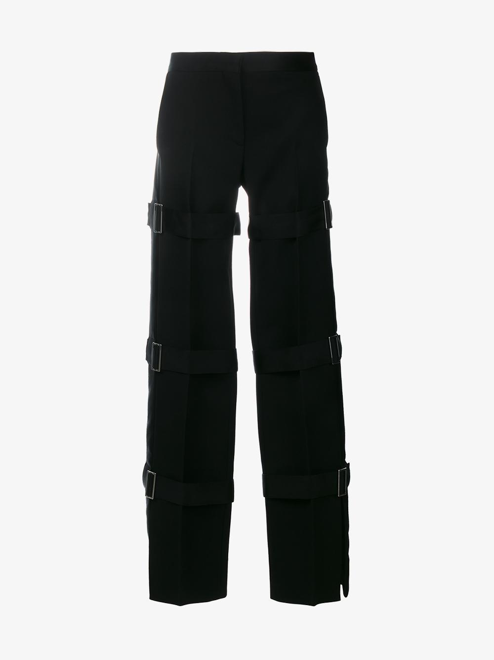multi strap tuxedo trousers - Black Alexander McQueen HCFux