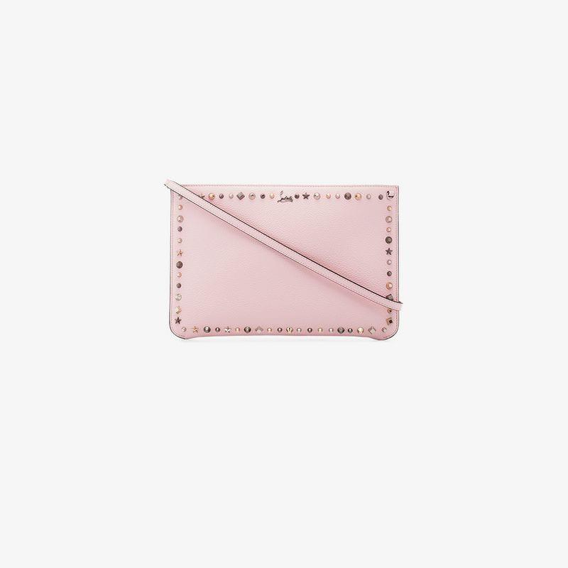 65b6c4937ec2 Christian Louboutin. Women s Pink Empire Spike Embellished Leather Clutch