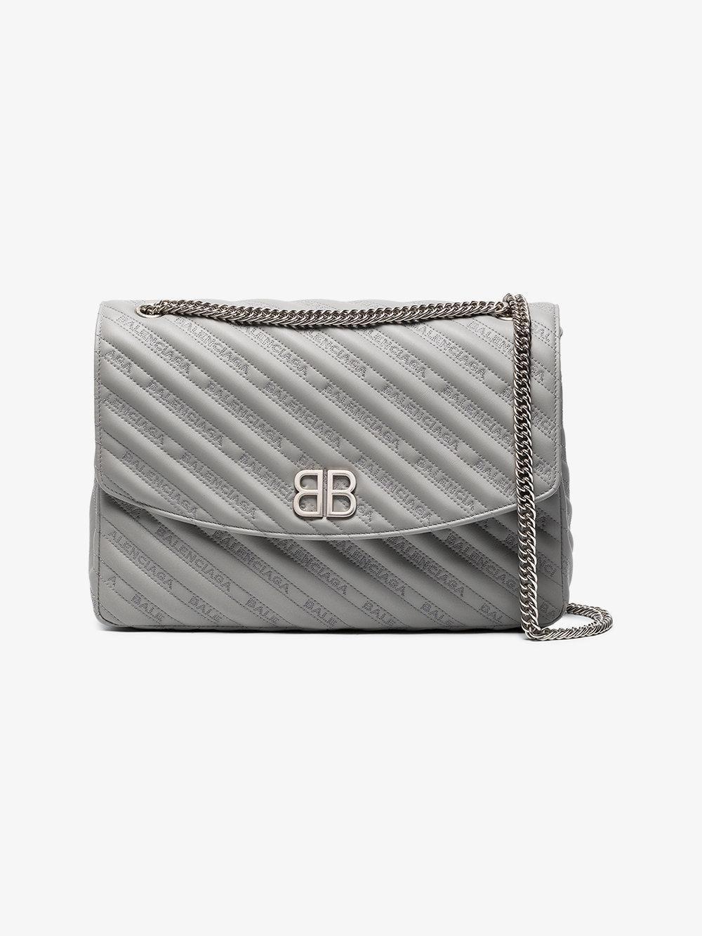 Embroidered Leather Shoulder Bag - Black Balenciaga TXQ5DDO1