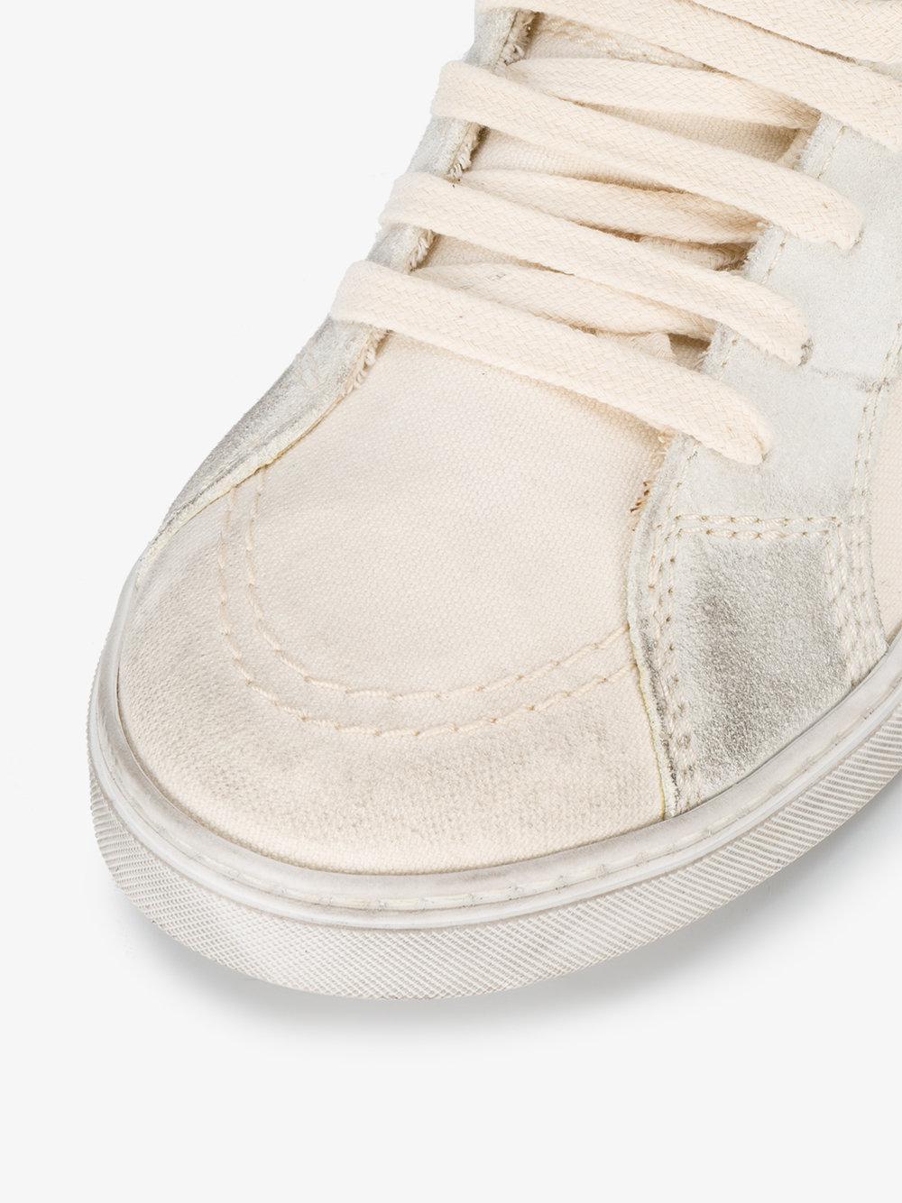 White Joe canvas hi top sneakers Saint Laurent 4h84Hd9DY