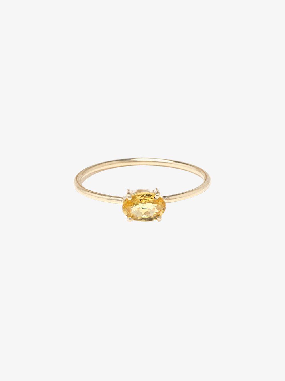 Ileana Makri Single Stone Ring in Metallics waxmBvS