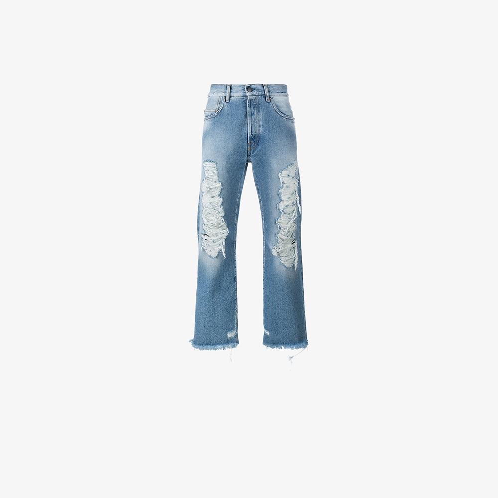 palm angels distressed cropped jeans for men lyst. Black Bedroom Furniture Sets. Home Design Ideas