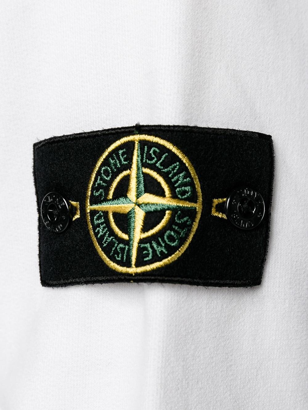 Lyst Stone Island Logo Patch Sweatshirt In Black For Men