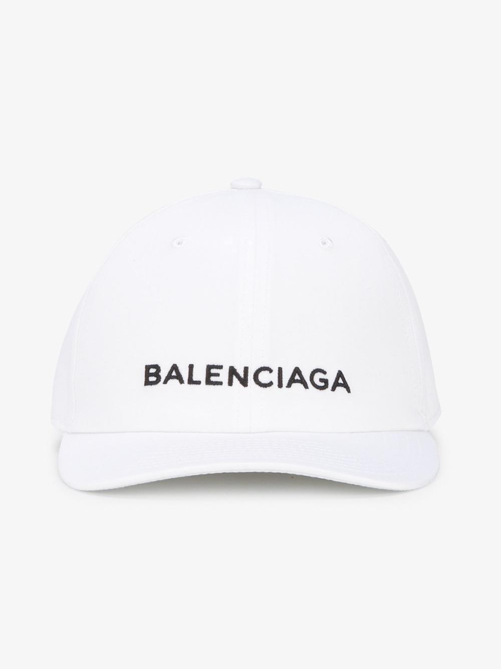 532e7dc1e3b Lyst - Balenciaga Logo Baseball Cap in White for Men