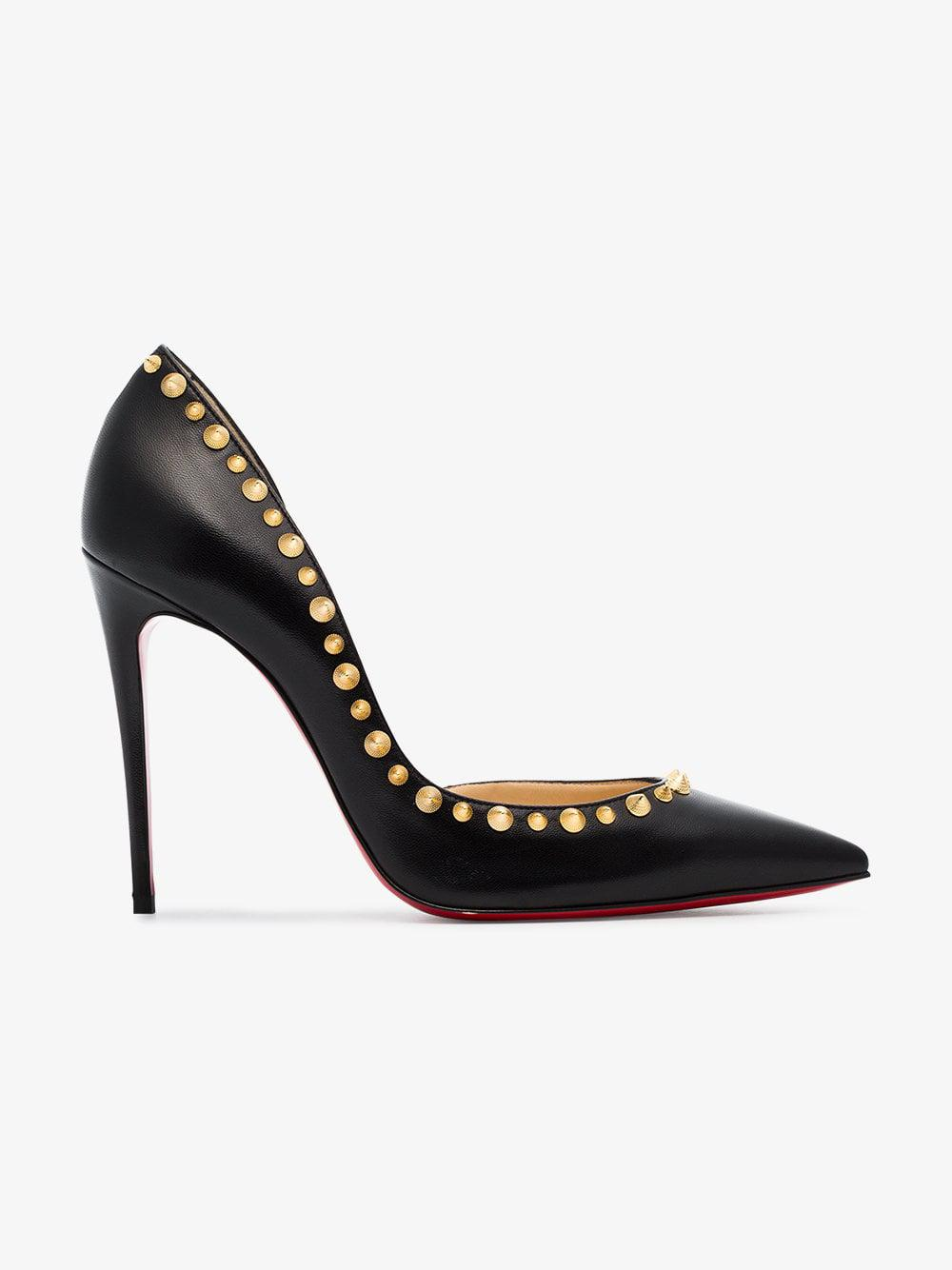 6054795fd17 Christian Louboutin Irishell 100 Studded Leather Pumps in Black - Lyst