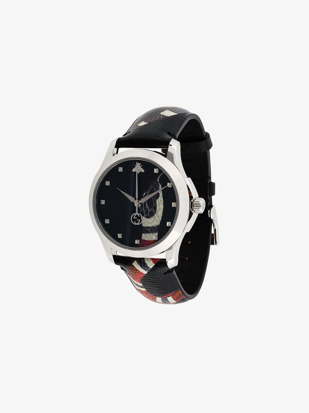 14762727ac6 Gucci G-timeless Chronograph Watch in Black for Men - Lyst
