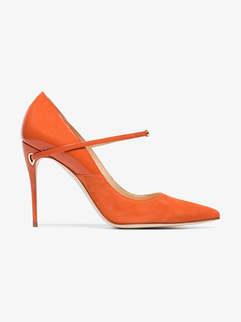 8c847cc3a07 JENNIFER CHAMANDI - Orange Lorenzo 105 Leather Suede Pumps - Lyst. View  fullscreen