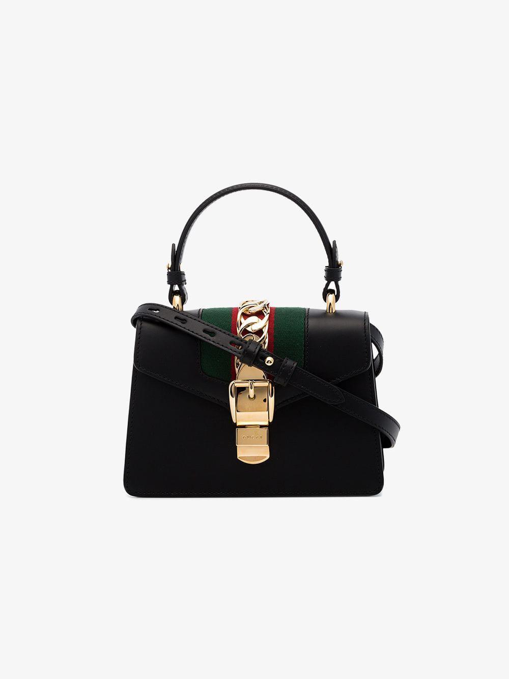 38a80d45455d Gucci Black Sylvie Mini Bag in Black - Save 14% - Lyst