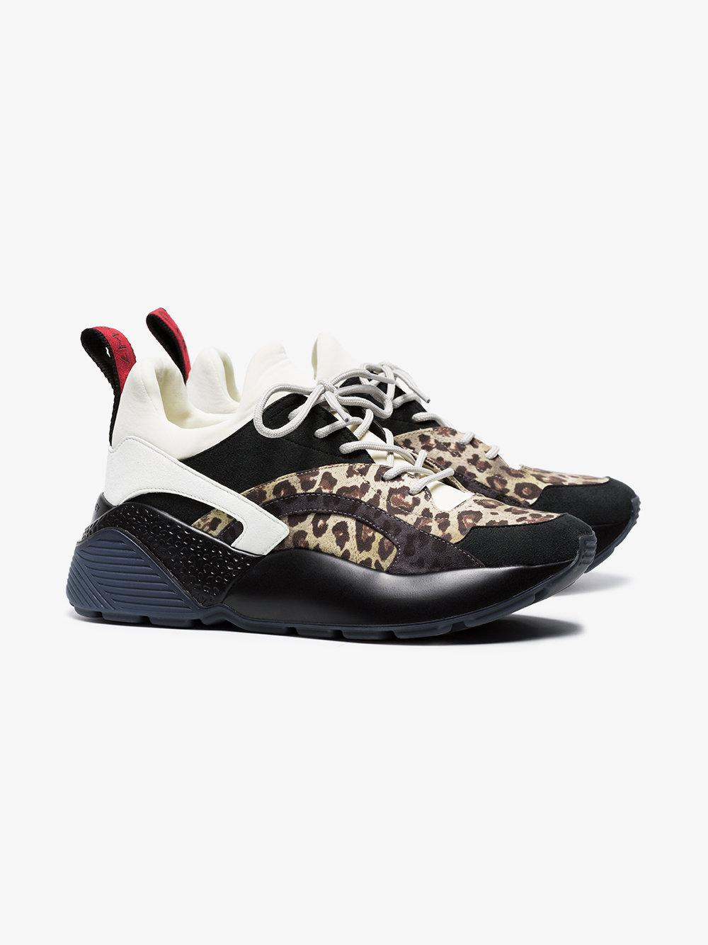 Multicoloured Eclypse Leopard Print Sneakers - Nude & Neutrals Stella McCartney lGvXWuaNK