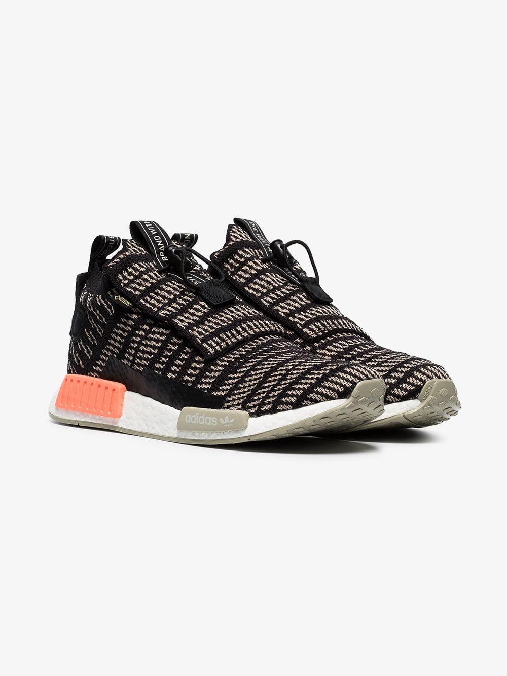 dcdfa09769d4e Lyst - adidas Black And Beige Nmd Ts1 Primeknit Gtx Sneakers in ...
