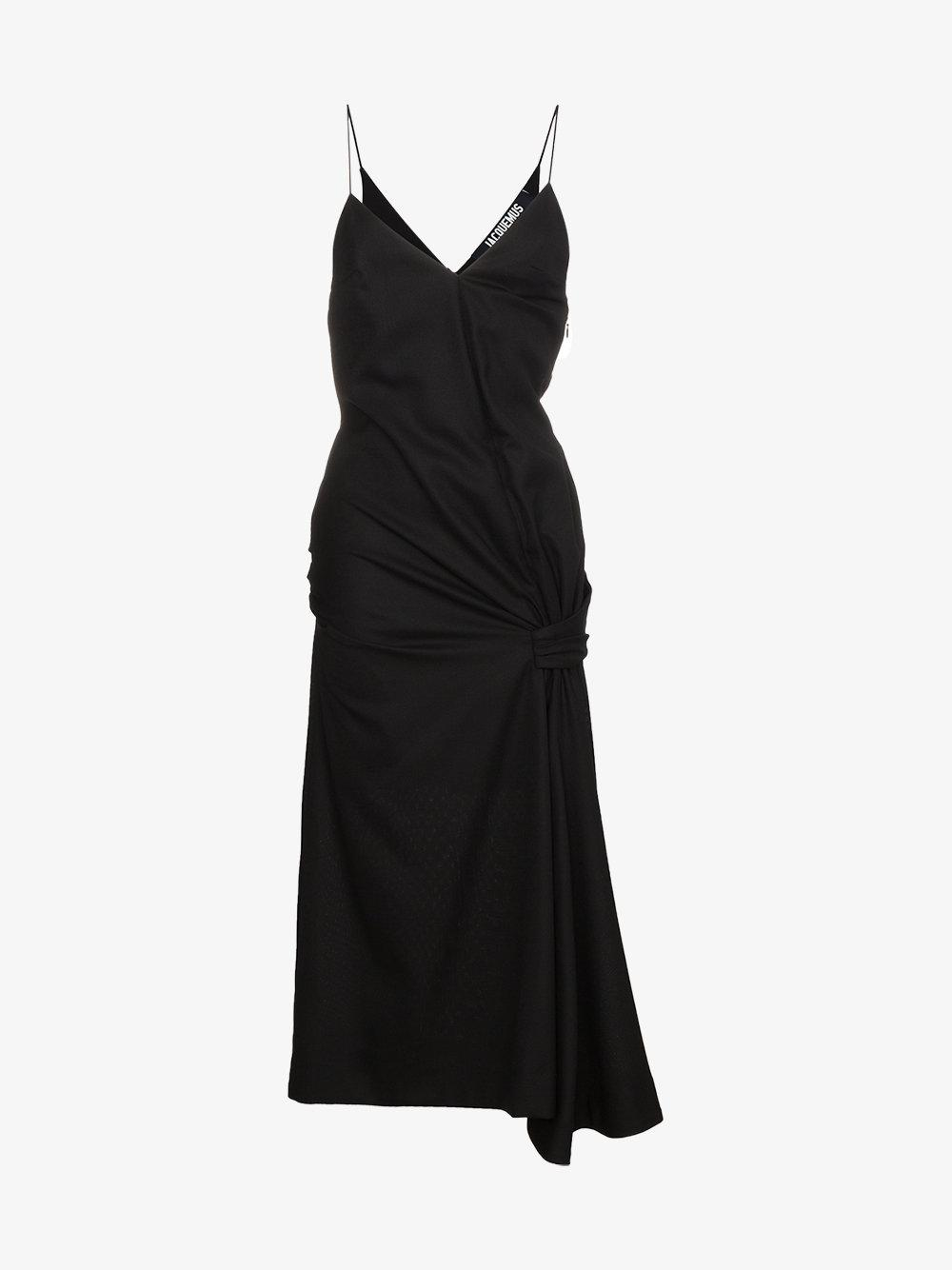 Hyper Online Cheap Websites sleeveless gathered dress - Black Jacquemus Big Discount Cheap Price Cost For Sale Limit Offer Cheap U32NUed
