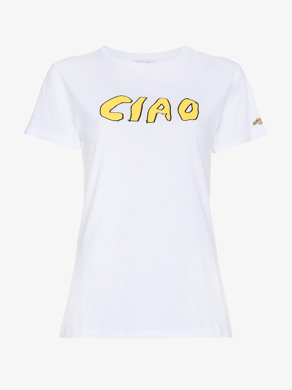 a654de303 Bella Freud Ciao T-shirt in White - Lyst