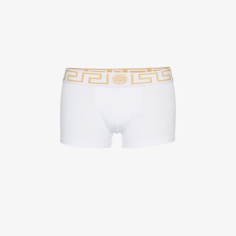 4f6e719e Versace Greek Print 2 Pack Underwear in White for Men - Lyst