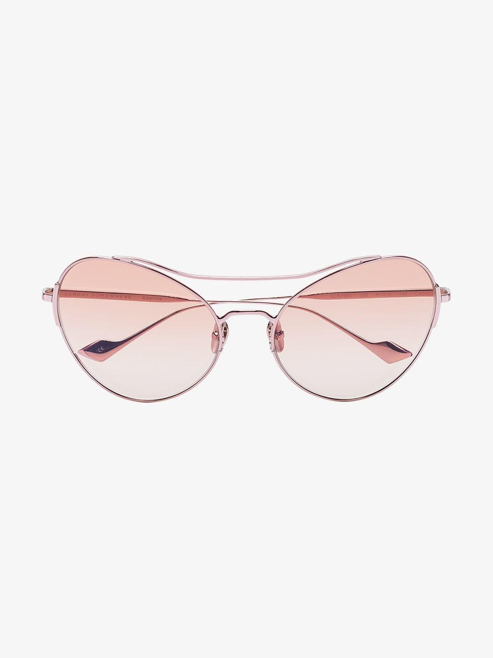 6e6188358e1b2 Sunday Somewhere Pink Adeline Oversized Metal Sunglasses in Pink - Lyst