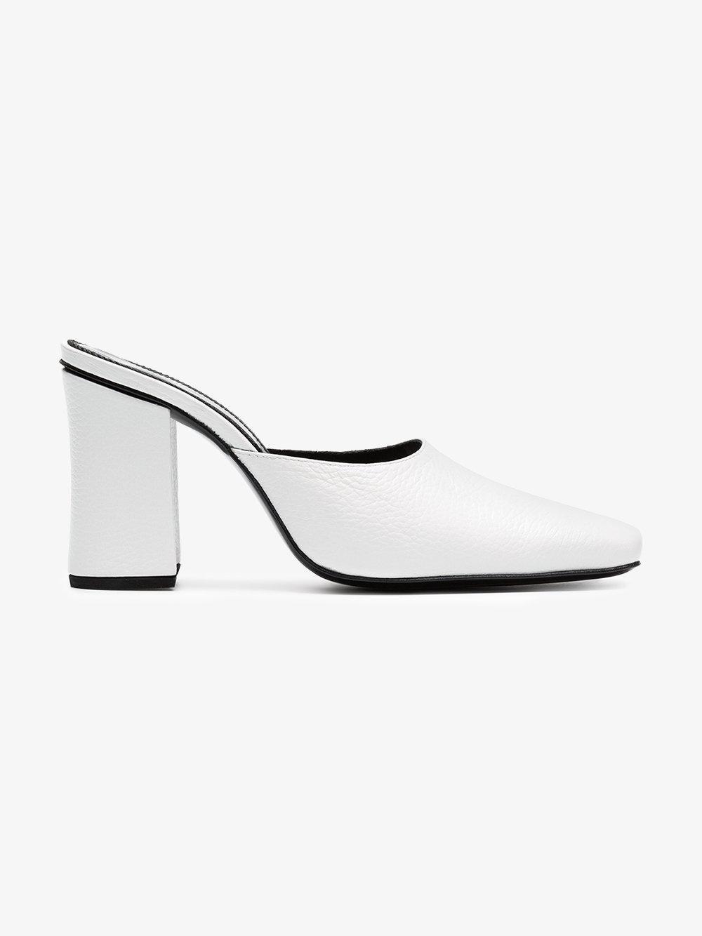 DORATEYMUR Mule 90 leather high heel pumps Cost Online QbPJE