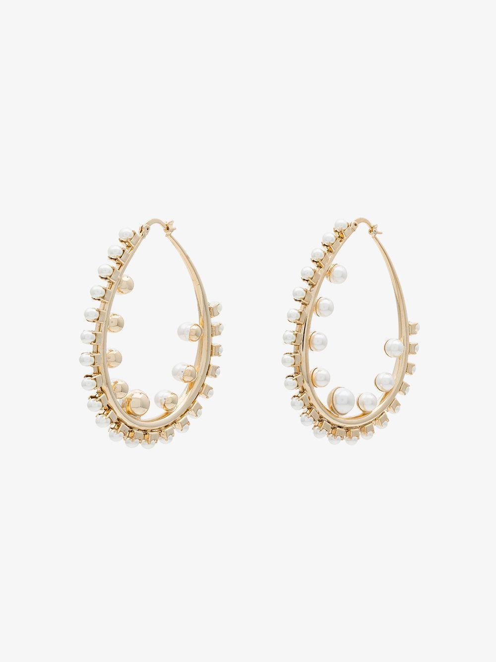Anton Heunis gold plated Netflix And Chill Swarovski crystal hoop earrings - Metallic iUyc0G0D