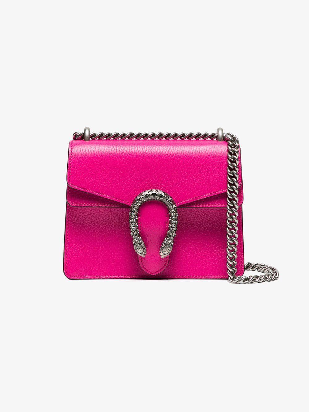 49110ffba9d3 Lyst - Gucci Pink Dionysus Small Leather Shoulder Bag in Pink - Save 29%