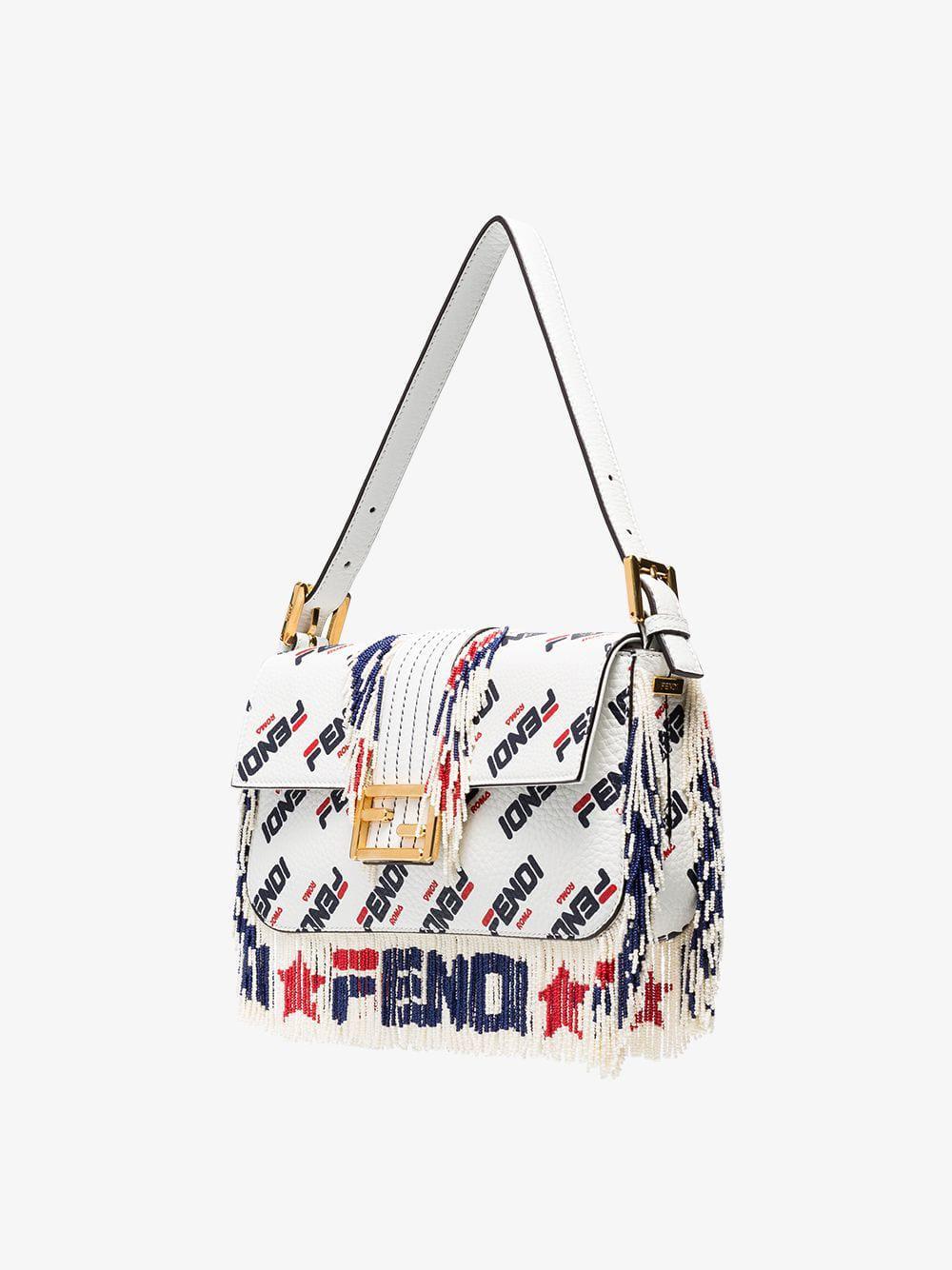 cceea23afdf8 Fendi - White Mania Baguette Shoulder Bag - Lyst. View fullscreen