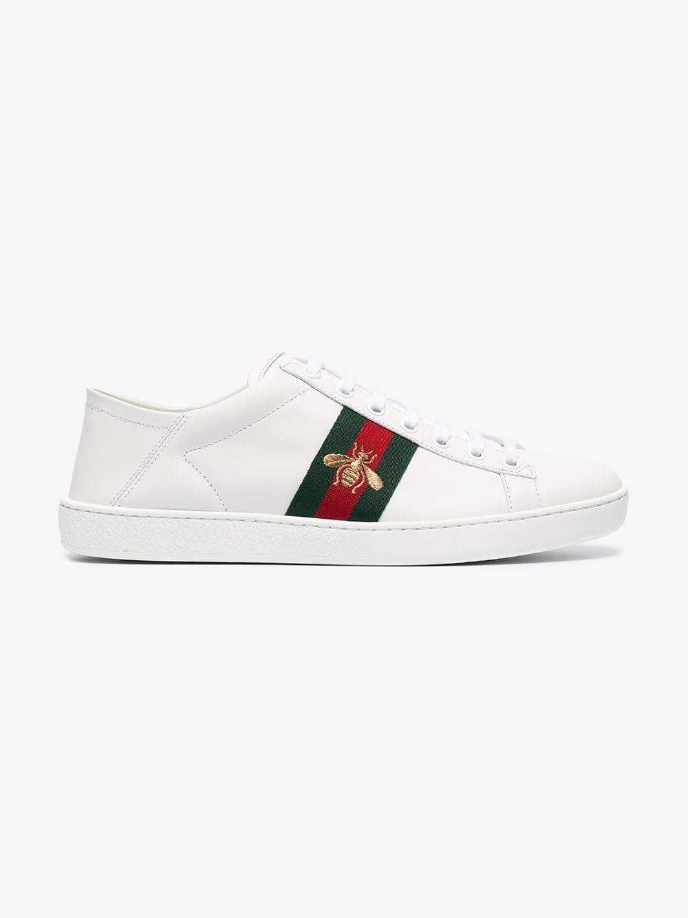 62c65743dd3 Lyst - Gucci White Ace Leather Sneakers in White