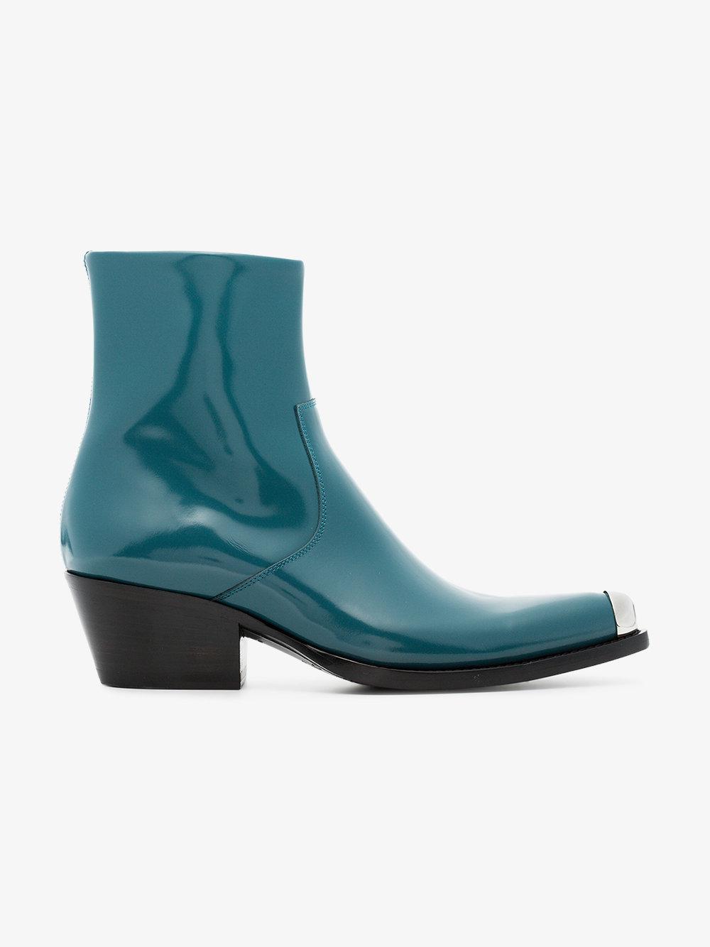 Calvin Klein Tex Chiara 40 leather boots zZOtDg