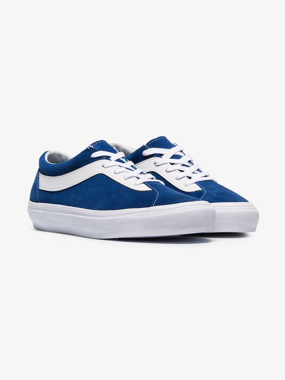 b75355817d Vans - Blue And White Bold Leather And Suede Sneakers for Men - Lyst. View  fullscreen